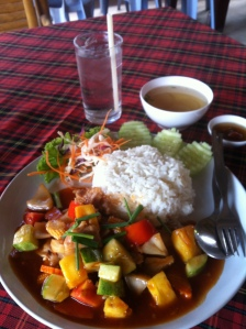 sweet and sour chicken at Krua Kritsana, Koh Lanta